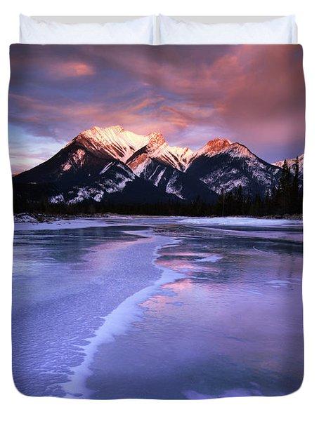 Frozen Sunrise Duvet Cover by Dan Jurak