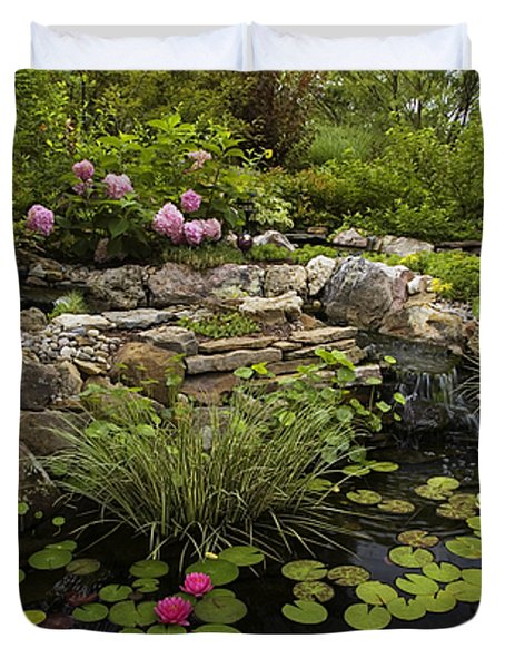 Garden Pond - D001133 Duvet Cover