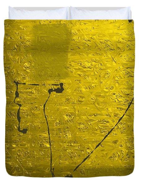 Gold Parchment Duvet Cover