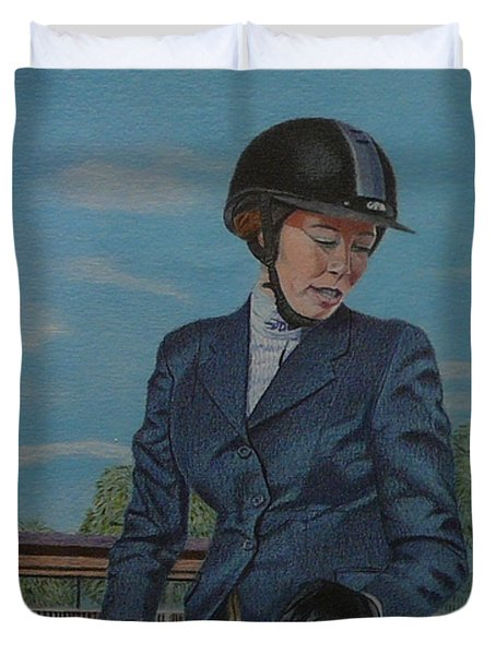 Horseshow Day Duvet Cover