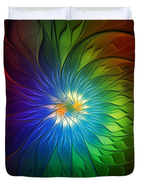 Into Light Duvet Cover by Amanda Moore