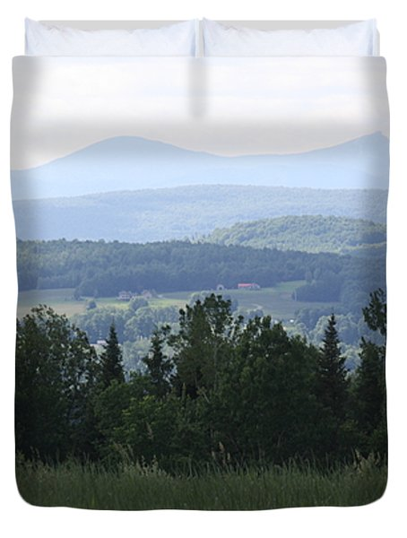 Jay Peak From Irasburg Duvet Cover