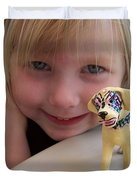 Lacey's Face Painted Dog Duvet Cover