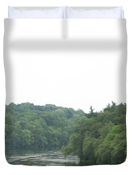 Mighty Merrimack River Duvet Cover by Barbara S Nickerson