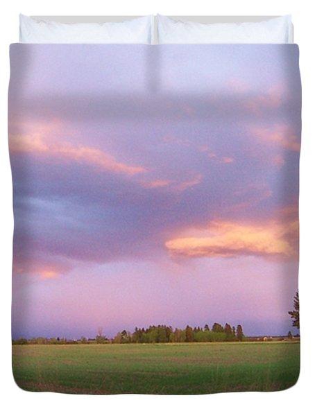 Montana Sunsets 3 Duvet Cover