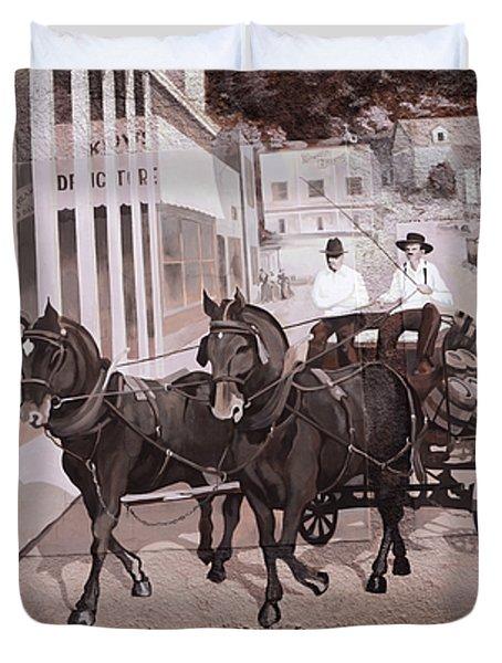 Mural Art Oregon 2 Duvet Cover by Bob Christopher