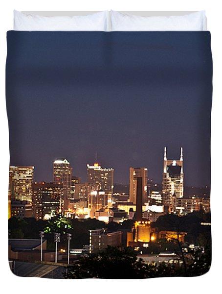 Nashville Cityscape 1 Duvet Cover by Douglas Barnett