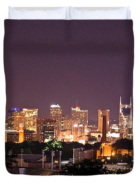 Nashville Cityscape 3 Duvet Cover by Douglas Barnett