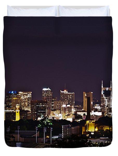 Nashville Cityscape 4 Duvet Cover by Douglas Barnett