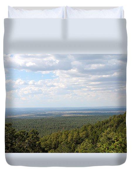 Overlooking Pinetop Duvet Cover
