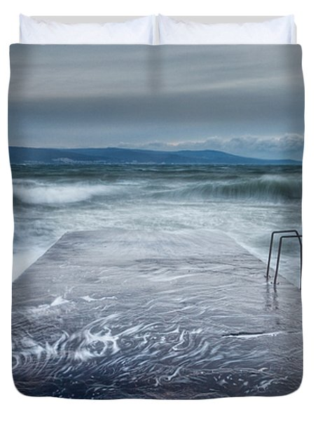 Raging Sea Duvet Cover by Evgeni Dinev