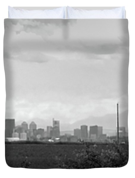 Stormy Day Calgary Cityscape Duvet Cover by Lisa Knechtel