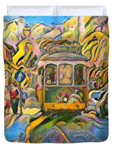 Street Car Lisbon Duvet Cover