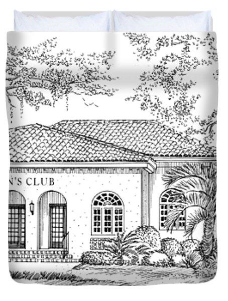 Tallahassee Womens Club Duvet Cover