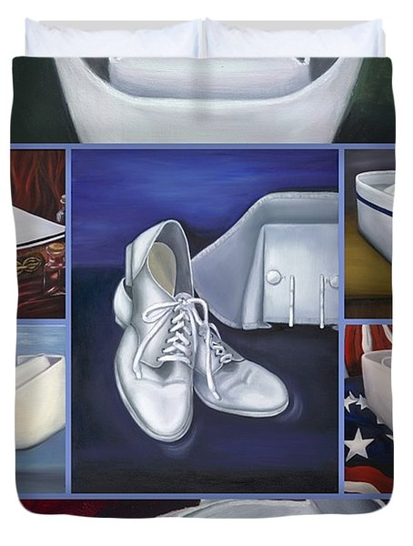 The Art Of Nursing II Duvet Cover by Marlyn Boyd