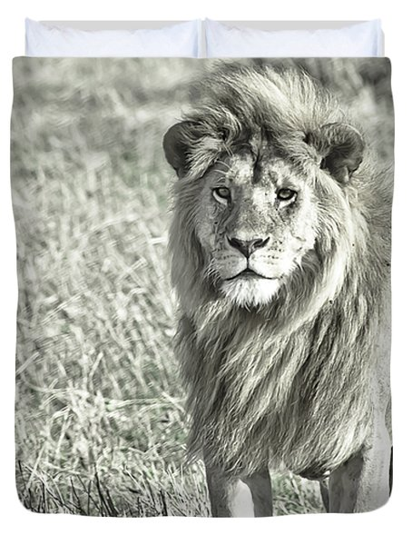 The King Stands Tall Duvet Cover by Darcy Michaelchuk