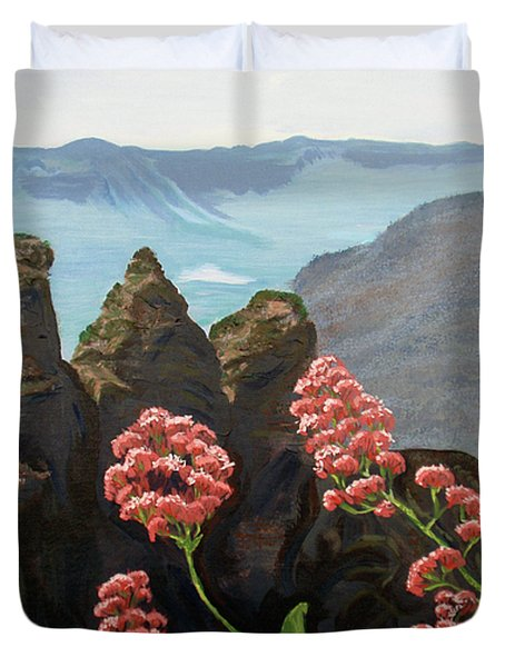 The Three Sisters Duvet Cover by Tatjana Popovska