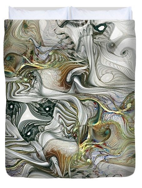 Duvet Cover featuring the digital art True Enough by NirvanaBlues