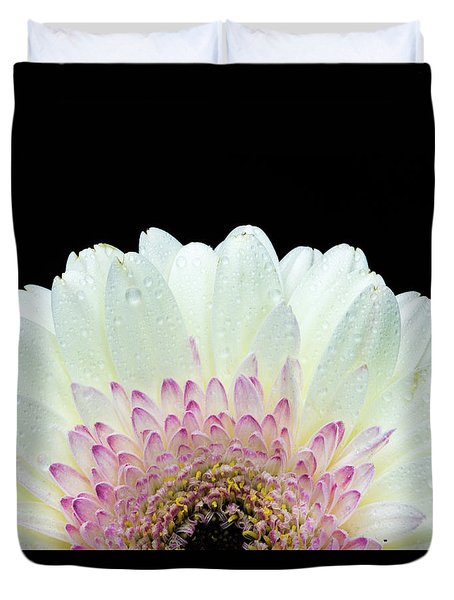 White And Pink Daisy Duvet Cover