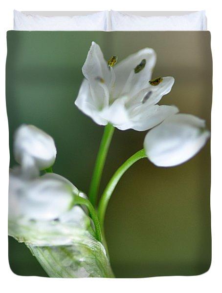 White Blossom 3 Duvet Cover