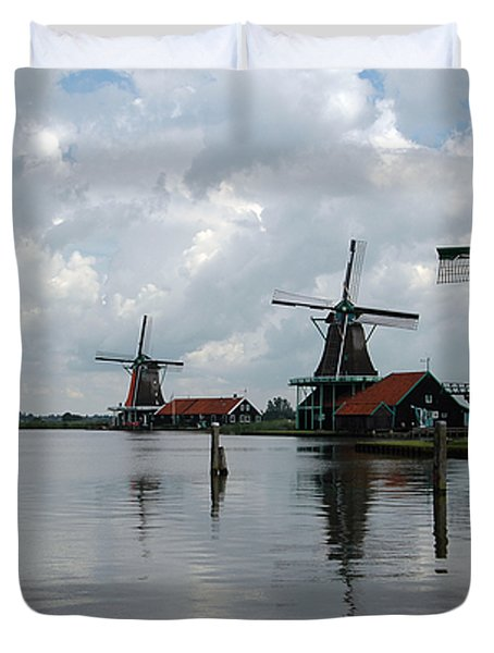Windmills Duvet Cover by Vilas Malankar