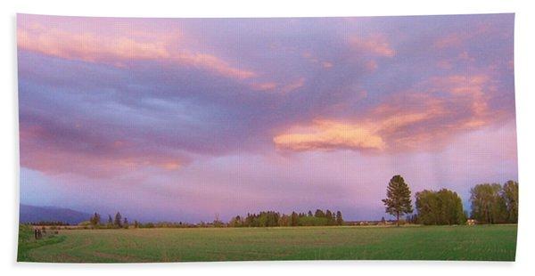 Montana Sunsets 3 Beach Towel