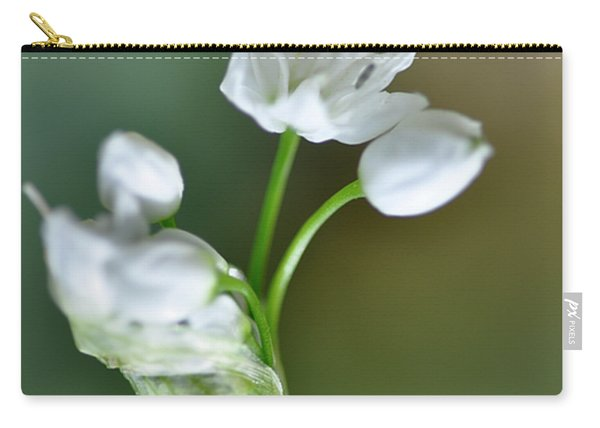White Blossom 3 Carry-all Pouch
