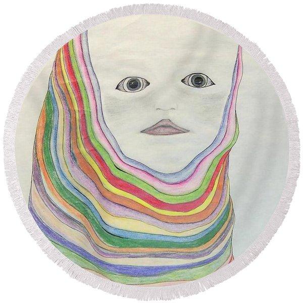 The Masks Round Beach Towel