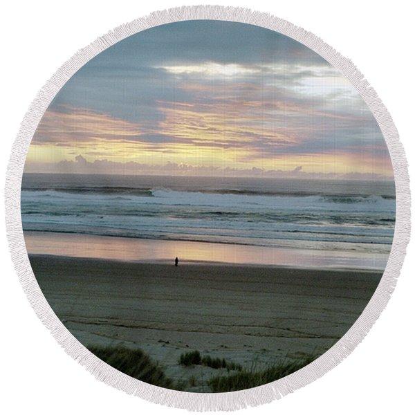 Oregon Coast 1 Round Beach Towel