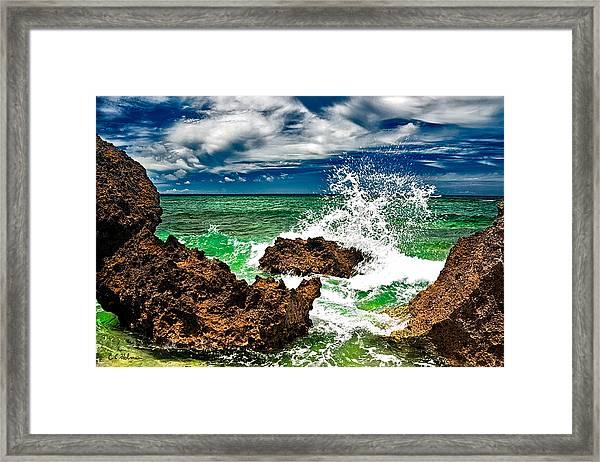 Blue Meets Green Framed Print