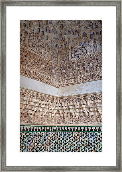 Framed Print featuring the photograph Colorful Carved Corner by Lorraine Devon Wilke