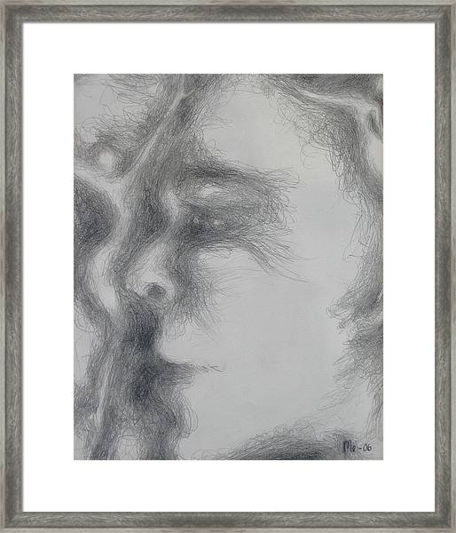 Face With Women Framed Print