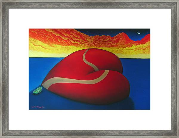 Floating On Love Framed Print