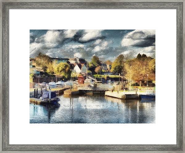 Riverview V Framed Print
