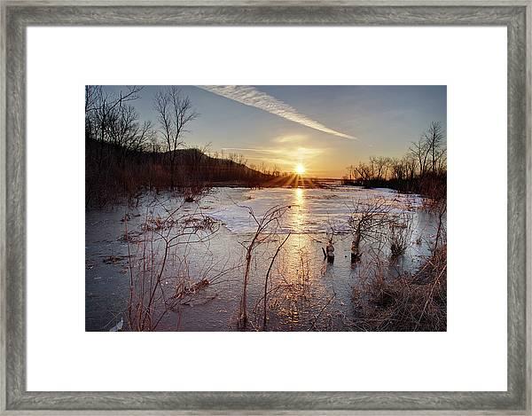 Sunrise At The Refuge Framed Print