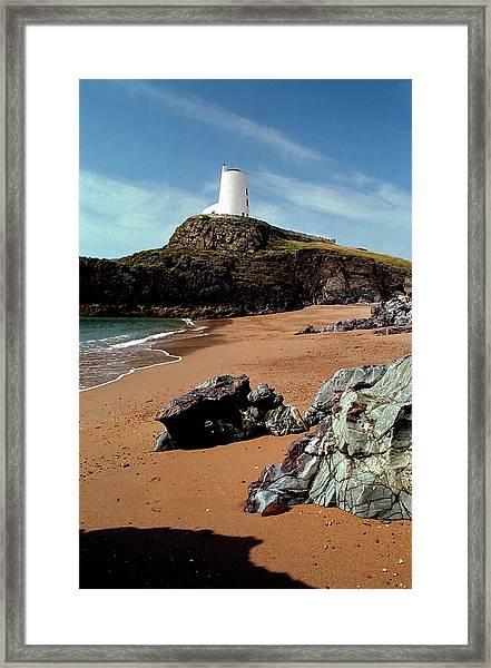 Twr Mawr On Ynys Llanddwyn Framed Print