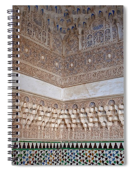Spiral Notebook featuring the photograph Colorful Carved Corner by Lorraine Devon Wilke