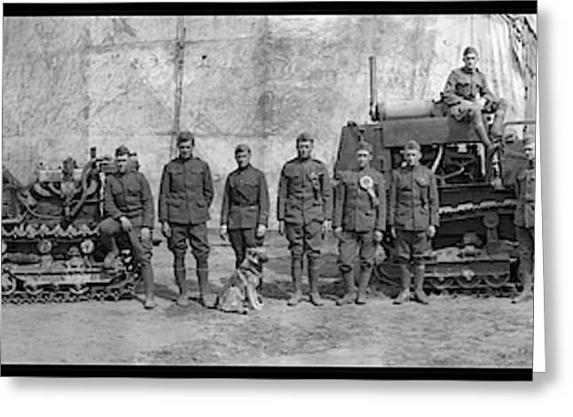 3rd Army Soldiers With Bulldozers Greeting Card