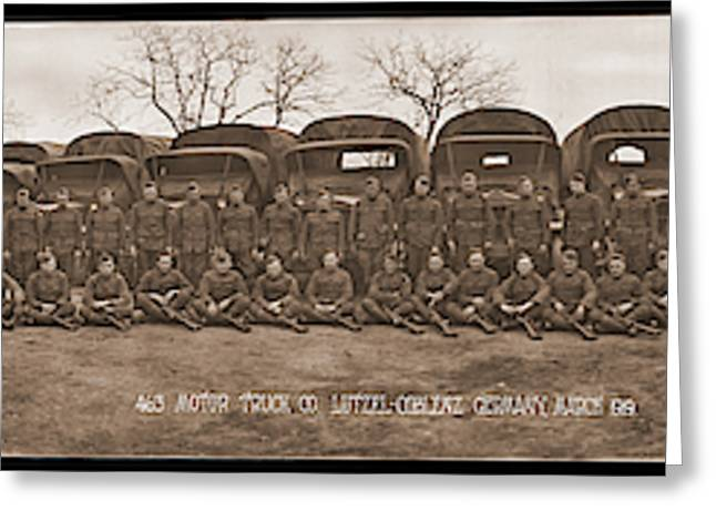 American Troops, 463 Motor Truck Co Greeting Card