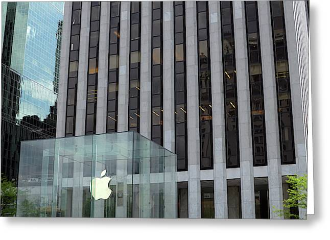 Apple Store In 5th Avenue, Manhattan Greeting Card