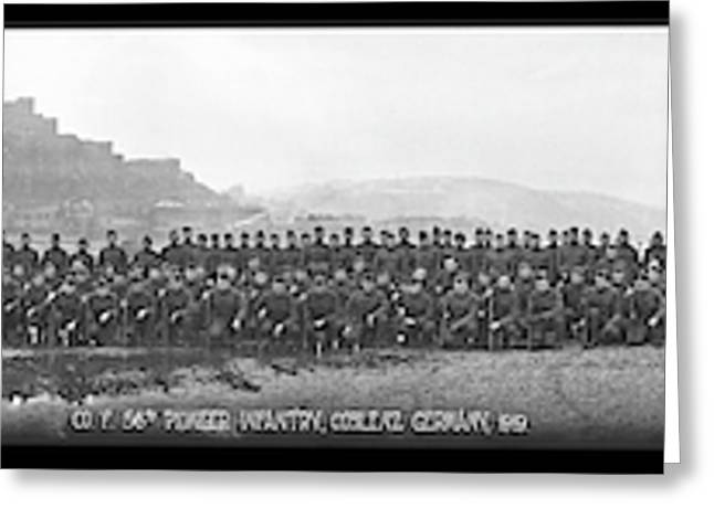Co. F. 56th Pioneer Infantry, Coblenz Greeting Card