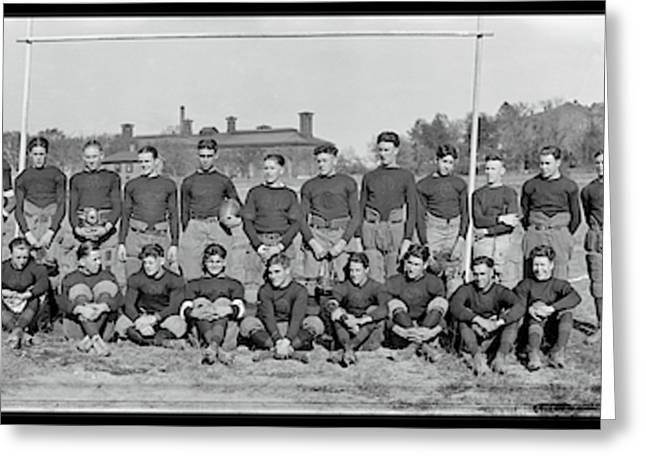Mohawk Jr, Football Team, Oct 1921 Greeting Card by Fred Schutz Collection
