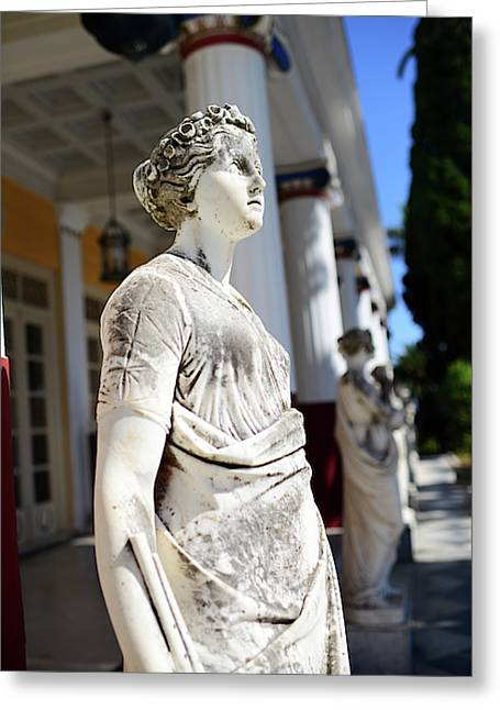 The Achilleion Palace In Corfu Greeting Card by Nano Calvo