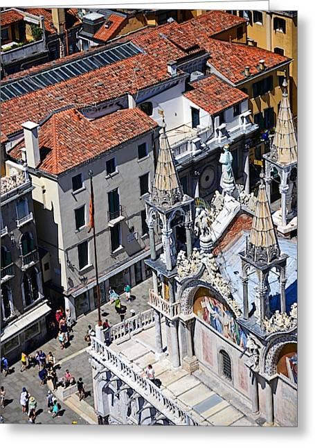 View Of Piazza San Marco Greeting Card by Nano Calvo
