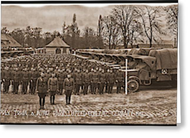 3rd Army Supply Train, And Motor Park Greeting Card
