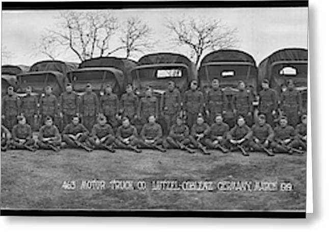 American Troops, 463 Motor Truck Co Greeting Card