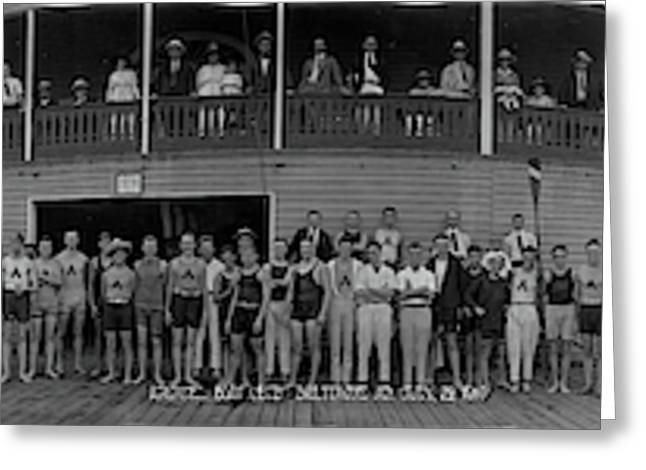 Arundel Boat Club Baltimore Md Greeting Card by Fred Schutz Collection