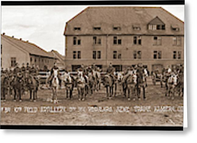 Battery C. 1st Bn. 10th Field Greeting Card by Fred Schutz Collection