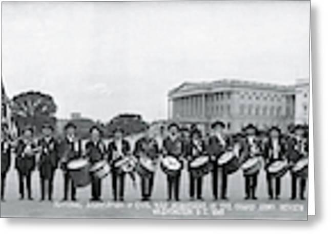 Civil War Musicians Washington Dc Greeting Card
