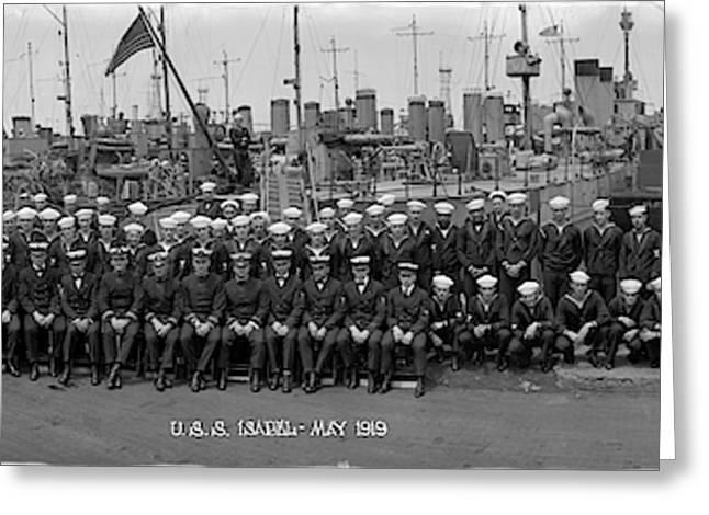 Destroyer Isabel & Crew 1919 Greeting Card